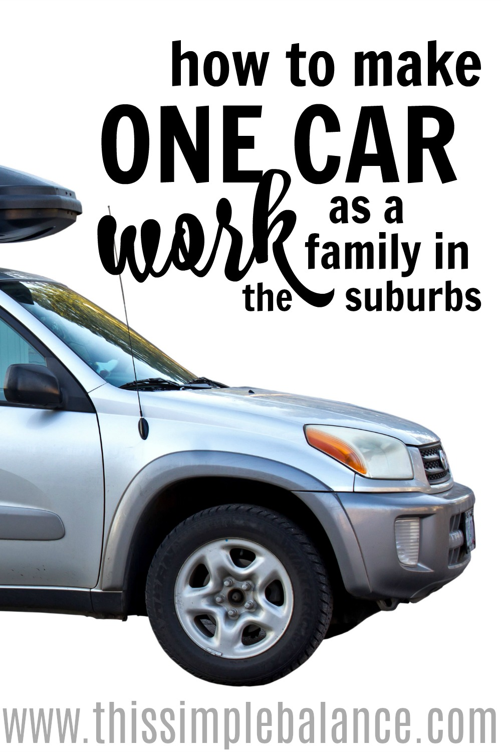 Wondering if being a one car family can actually work - even in the suburbs? You can go without a second car (yes - even in America! even with a family!). Learn why you should consider it and how to make it work. #frugallivingtips