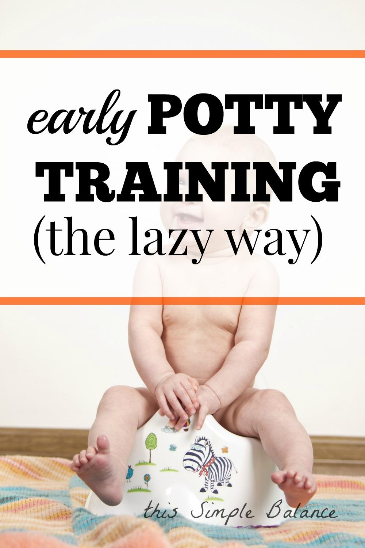 easy early potting training, elimination communication made simple