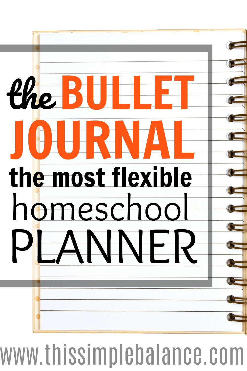 Bullet Journaling for Homeschool Moms: This post gives practical ideas for how to use the bullet journal as a homeschool mom (without needing all the artsy embellishments.)