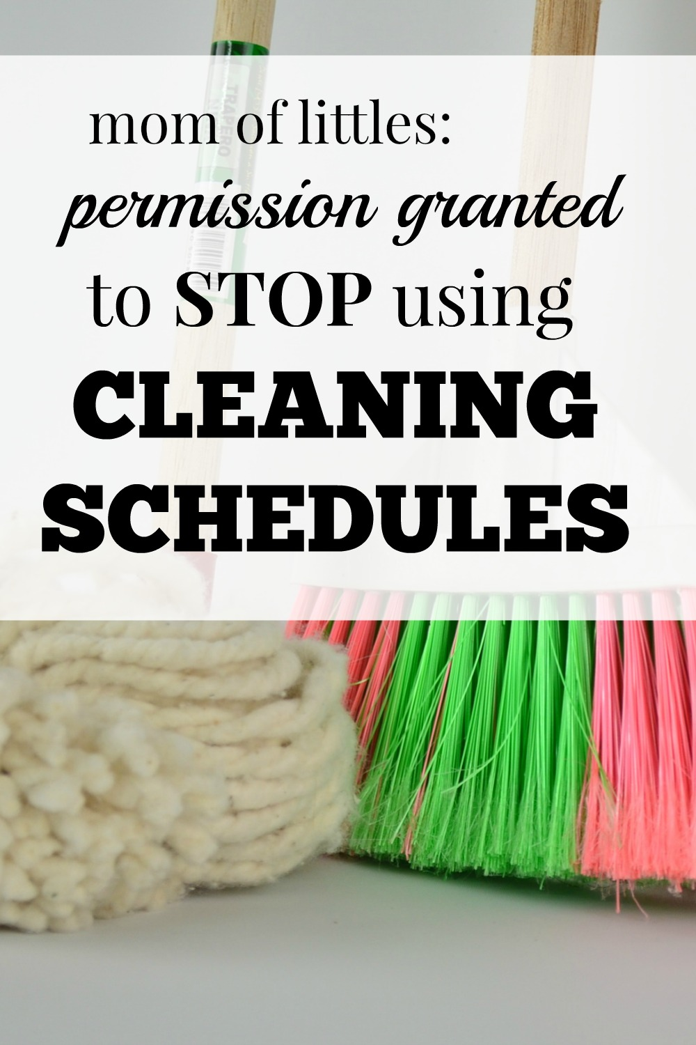 cleaning schedules, should i use a cleaning schedule