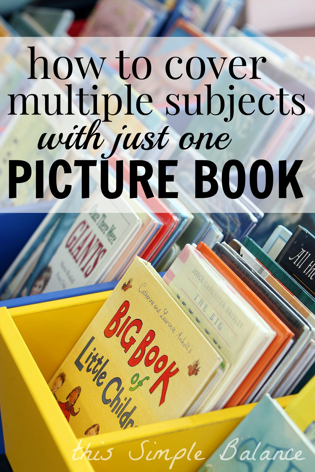 Use Picture Books in your Homeschool: I love this example - it helped me understand how I can use picture books to teach multiple subjects.