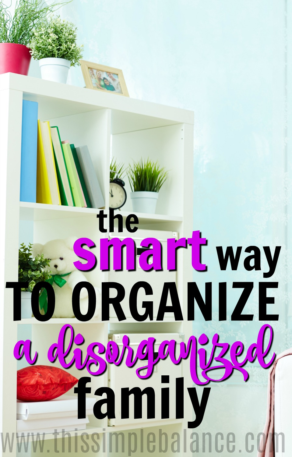 Is your disorganized family driving you CRAZY?! You discover the perfect organization ideas for the home, set it all up, and they totally ignore them. Dish to put their keys by the door? They drop them on the bookshelf instead: every. single. day. Stop doing the same thing over and over that IS NOT WORKING, and figure out a better way to organize so that your family actually gets it. #organizationideasforthehome #organizationtips