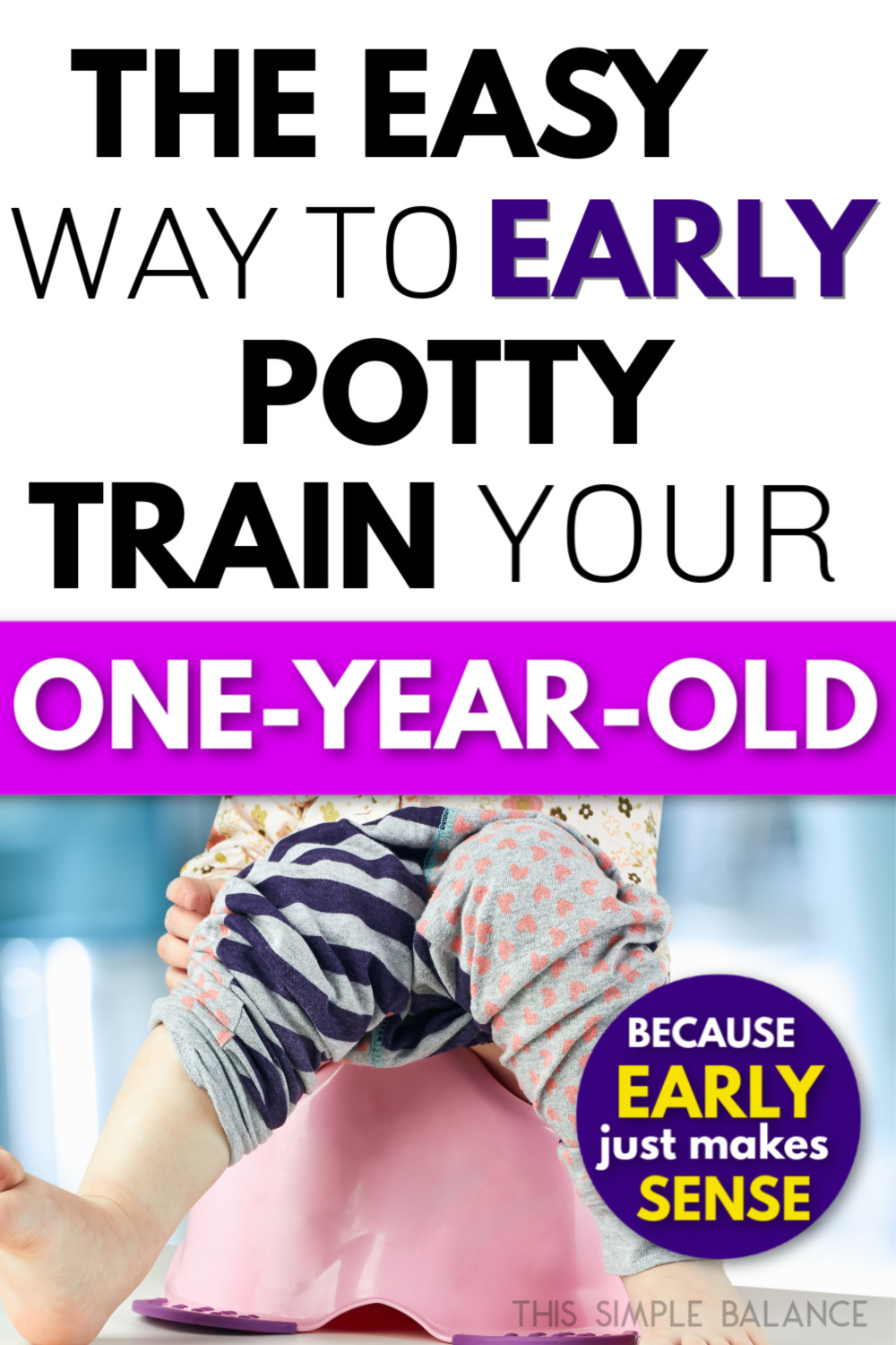 potty training one year old