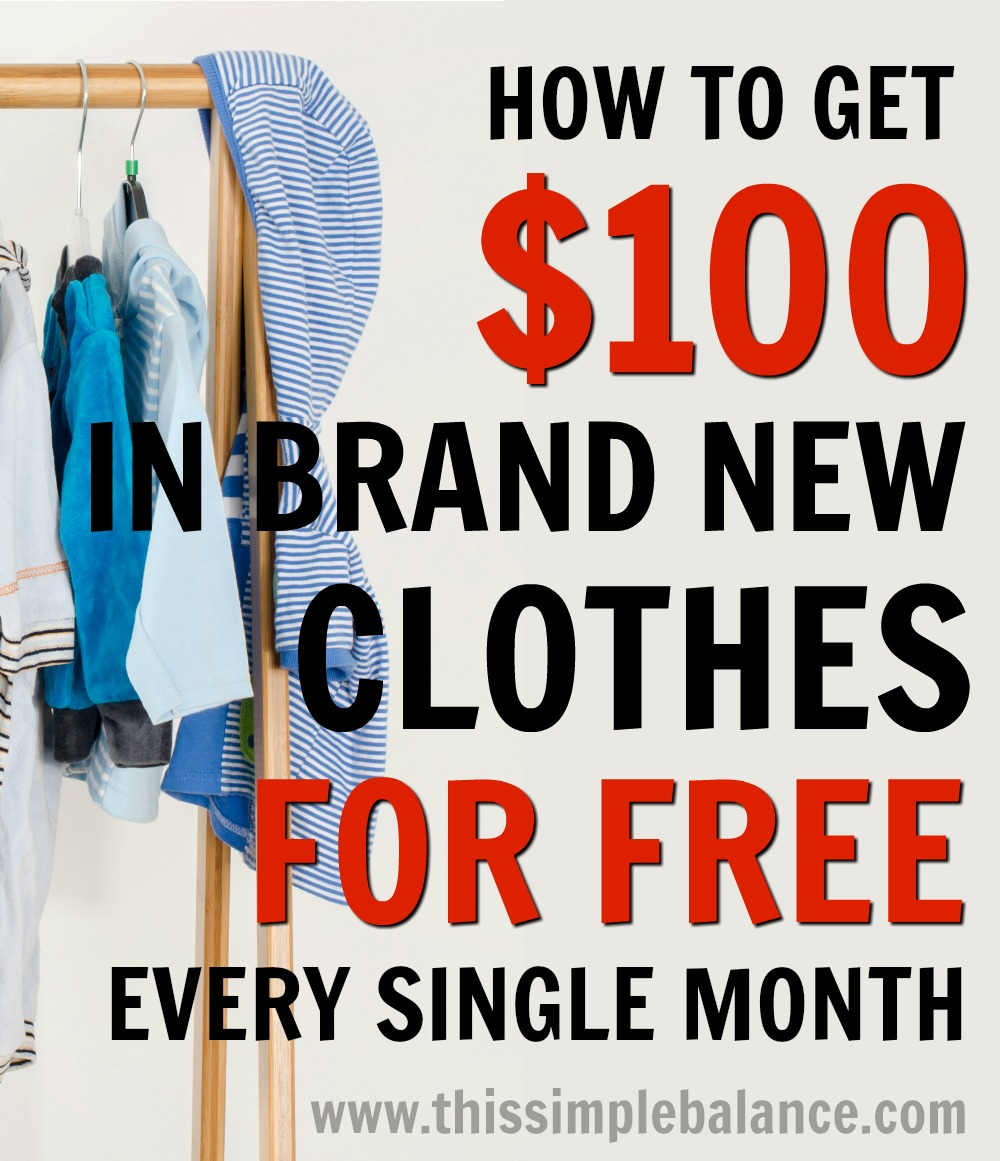 How to Get Free Clothes for Women. Men and Kids every single month.