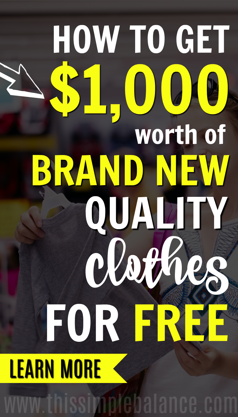 When we were a one income family, I explored many ways to save money. Getting clothes for free has been the biggest relief for our tight budget. Learn how I get over $100 a month in brand new, quality clothes for free. #savemoney #frugallivingtips