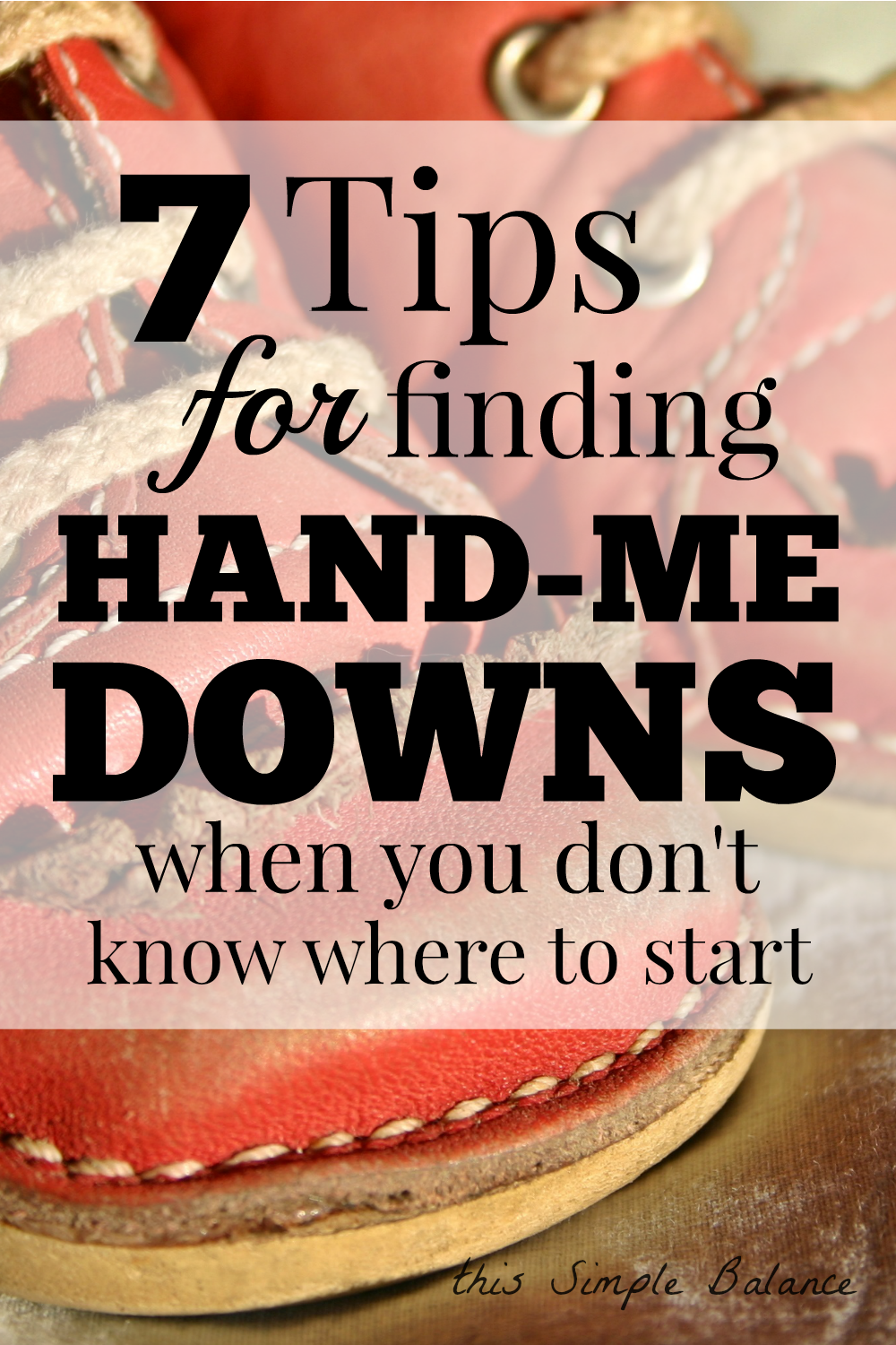 hand-me-downs, sources for hand-me-downs, how to find hand-me-downs