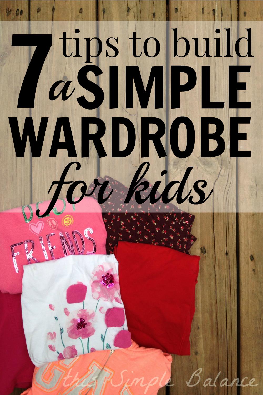 kids capsule wardrobe, simplify your child's wardrobe, simple wardrobe for kids