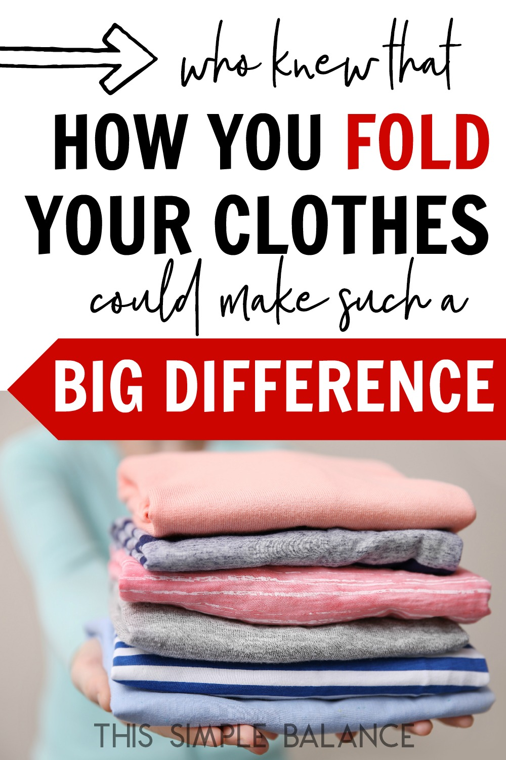 Folding Clothes shouldn't be that big a deal. But THIS method of folding clothes seriously changed my life - and it might change yours (even if you're not an organization neat freak). Say good-bye to messy drawers! For good.