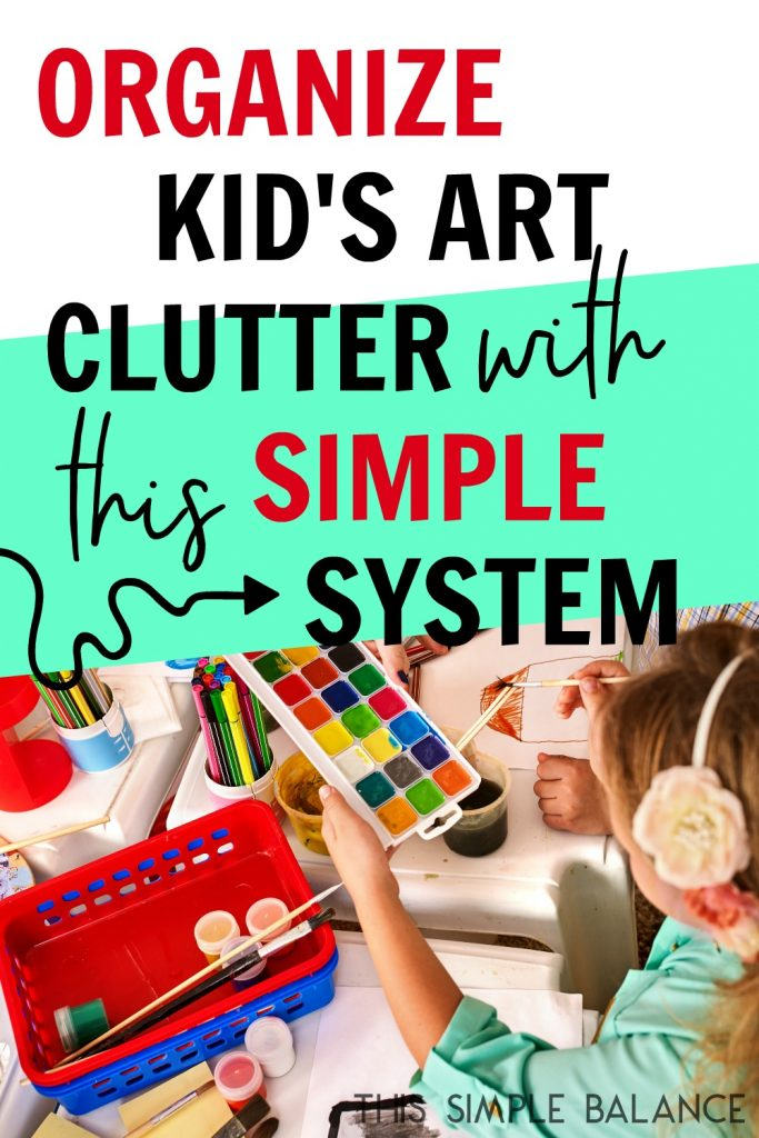 Art storage for kids can be SO overwhelming, especially when your kids are small. SO MUCH PAPER!! Decision fatigue hits hard as you try to decide what art is worth keeping or not. This simple storage solution eliminates all the overwhelm! You NEED to try it!