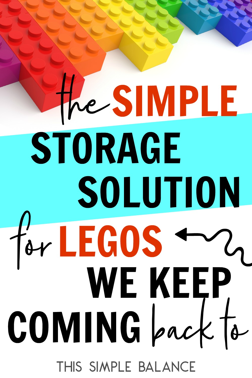 Lego Storage Organization: Looking for a cheap and simple solution? Every time I think of trying something else, we come back to this simple storage solution.