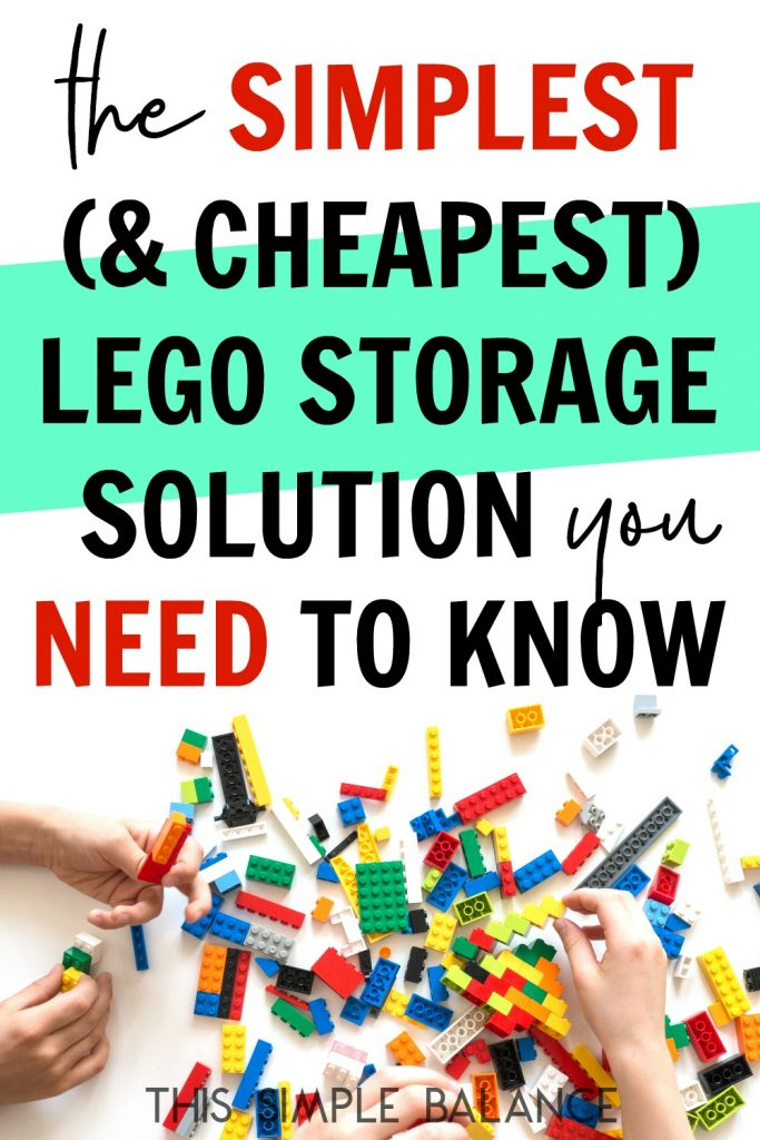 Simple & Cheap Lego Storage: Check this out before you buy all the expensive lego organization stuff!