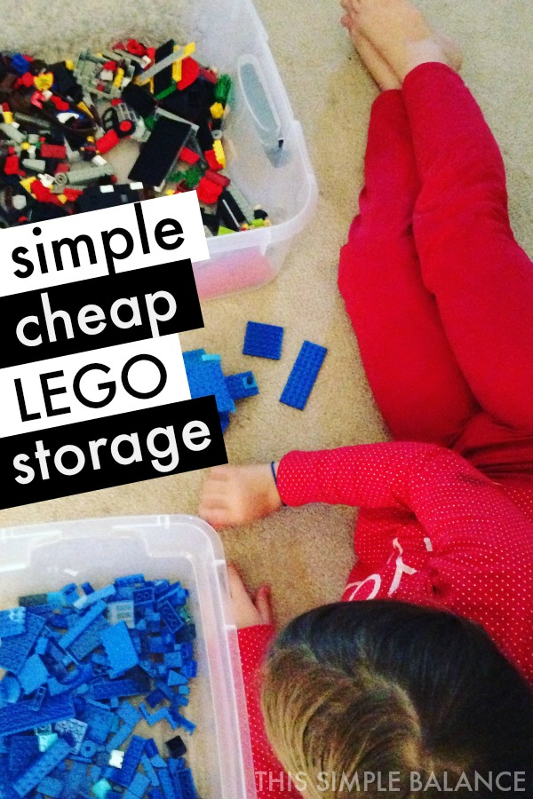 Simple cheap LEGO storage that actually works (no more kids dumping out ALL the LEGOs)