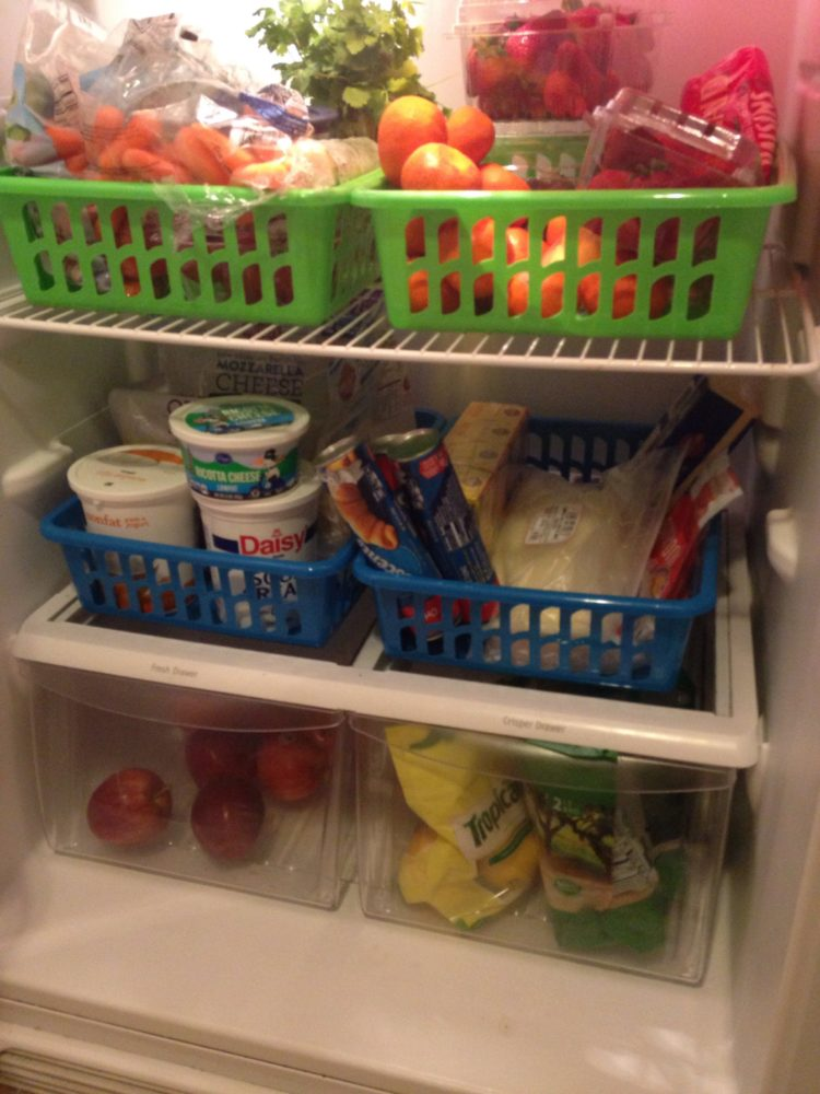fridge organization ideas, dollar store fridge organization, cheap fridge organization,