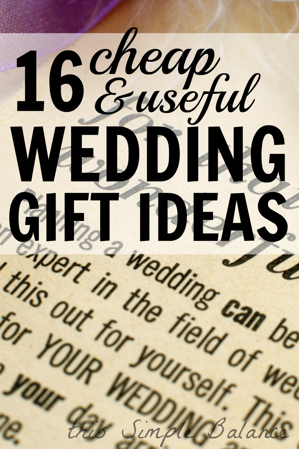 cheap useful wedding gifts, wedding gift ideas