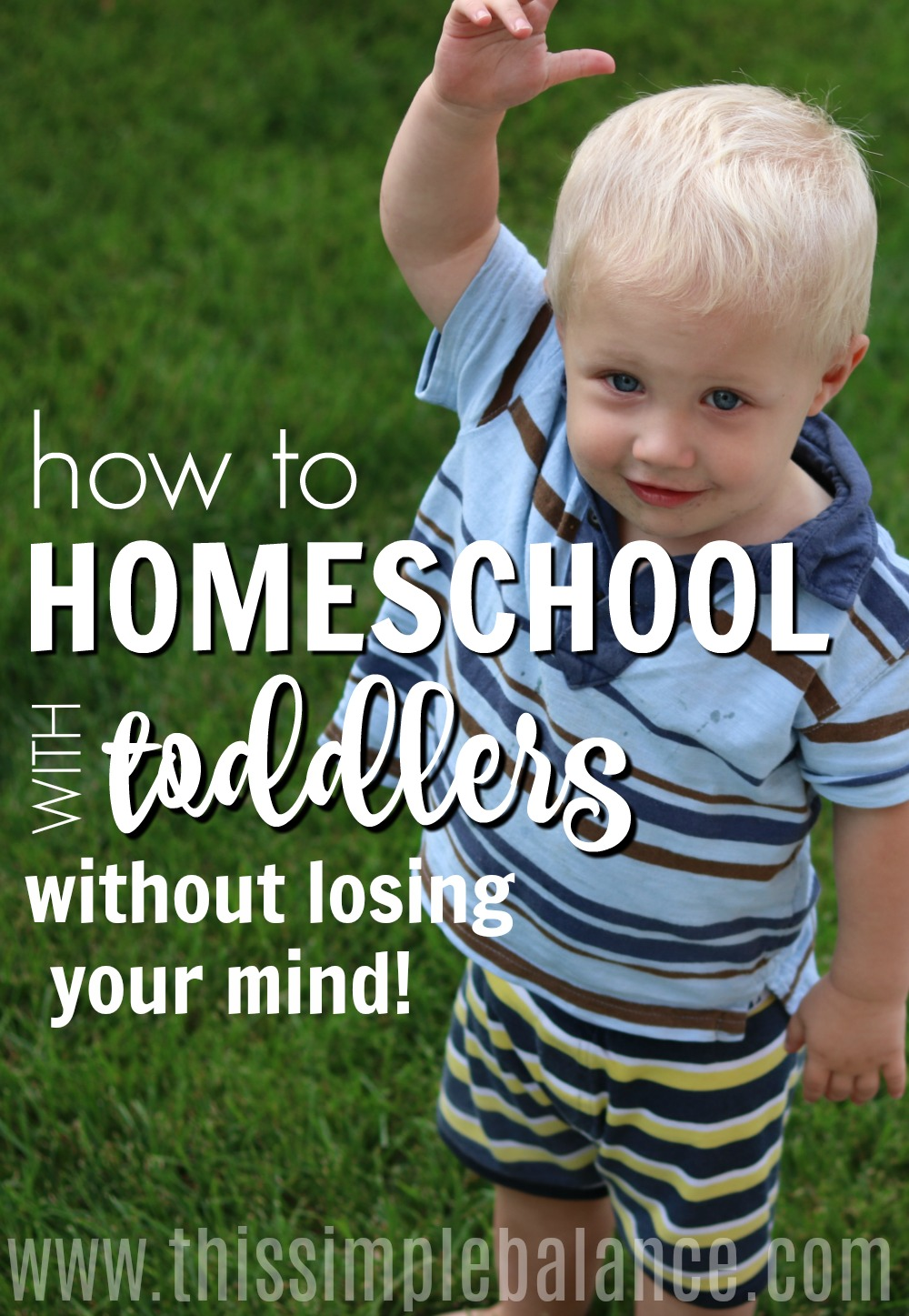 Does the thought of homeschooling with toddlers make you cringe and shrink back in fear? Don't worry! It is absolutely possible to homeschool with toddlers, but you may need to adjust your expectations and your homeschool style for a while to accommodate the crazy. #homeschooling #homeschoolwithtoddlers