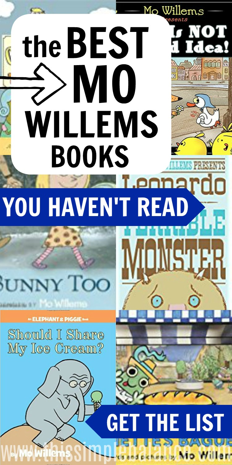 Think Elephant and Piggie books are the best Mo Willems has to offer? Some of the best books by Mo Willems are actually not Elephant and Piggie books, though one of them did make the list. Check out our 10 favorite Mo Willems books (and learn about a new one coming), some of which you may not have read yet! Mo Willems' humor, wit, and warmth will entice your struggling and reluctant readers to love reading. #booklists #booksforyoungboys