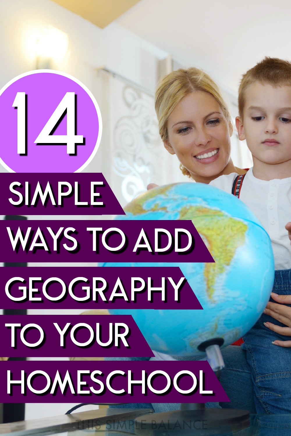 Homeschool geography can be super simple. Get 14 easy ways to teach geography in your homeschool without a curriculum. #homeschooltips #simplehomeschool