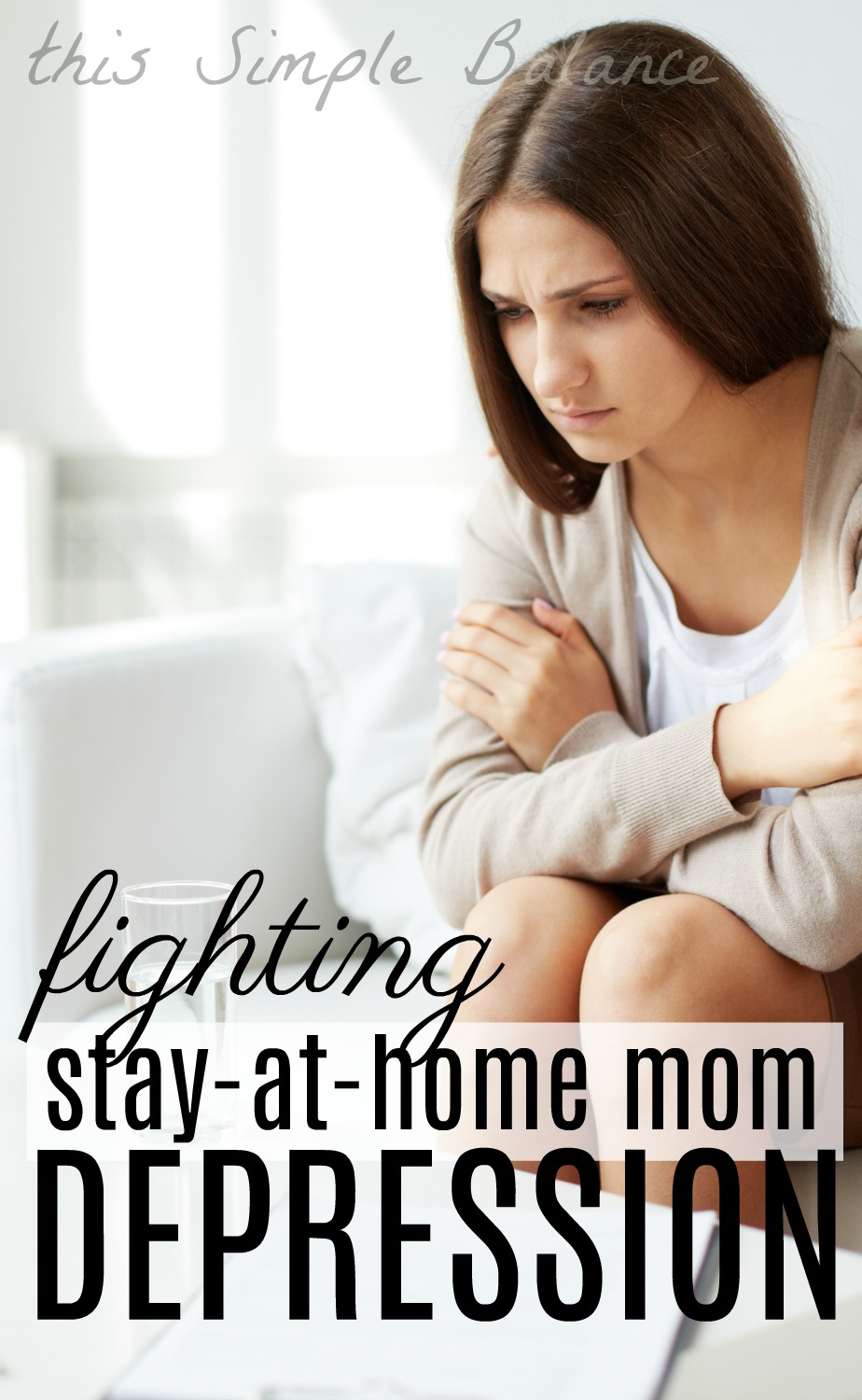 Have you ever experienced stay at home mom depression? Here's how one stay at home mom chose to fight depression.