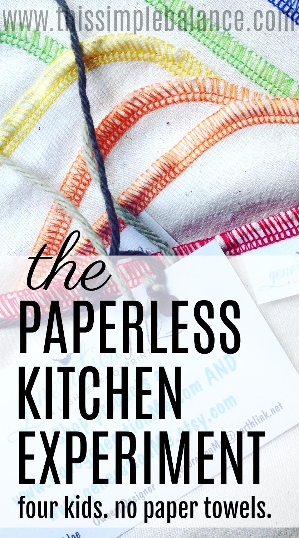 paperless kitchen, unpaper towels