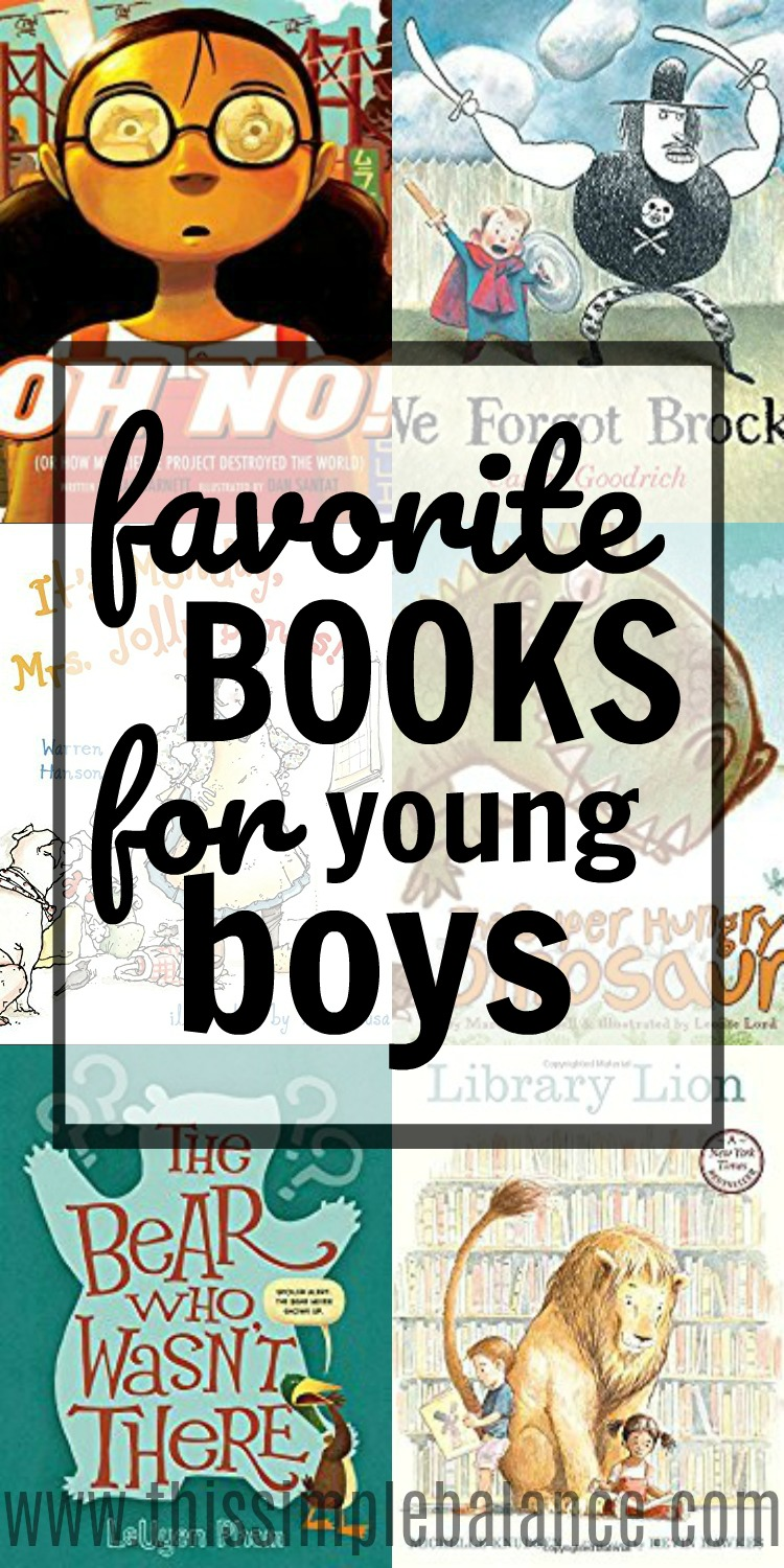 Best Books for Young Boys: I have such a hard time finding good books for my son, ones he loves. This list is so helpful - actual favorite books from a five year old boy. Perfect! Off to the library!
