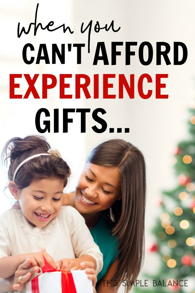 Experience Gifts are becoming more popular as more families are implementing a minimalist Christmas, but they can also be expensive...