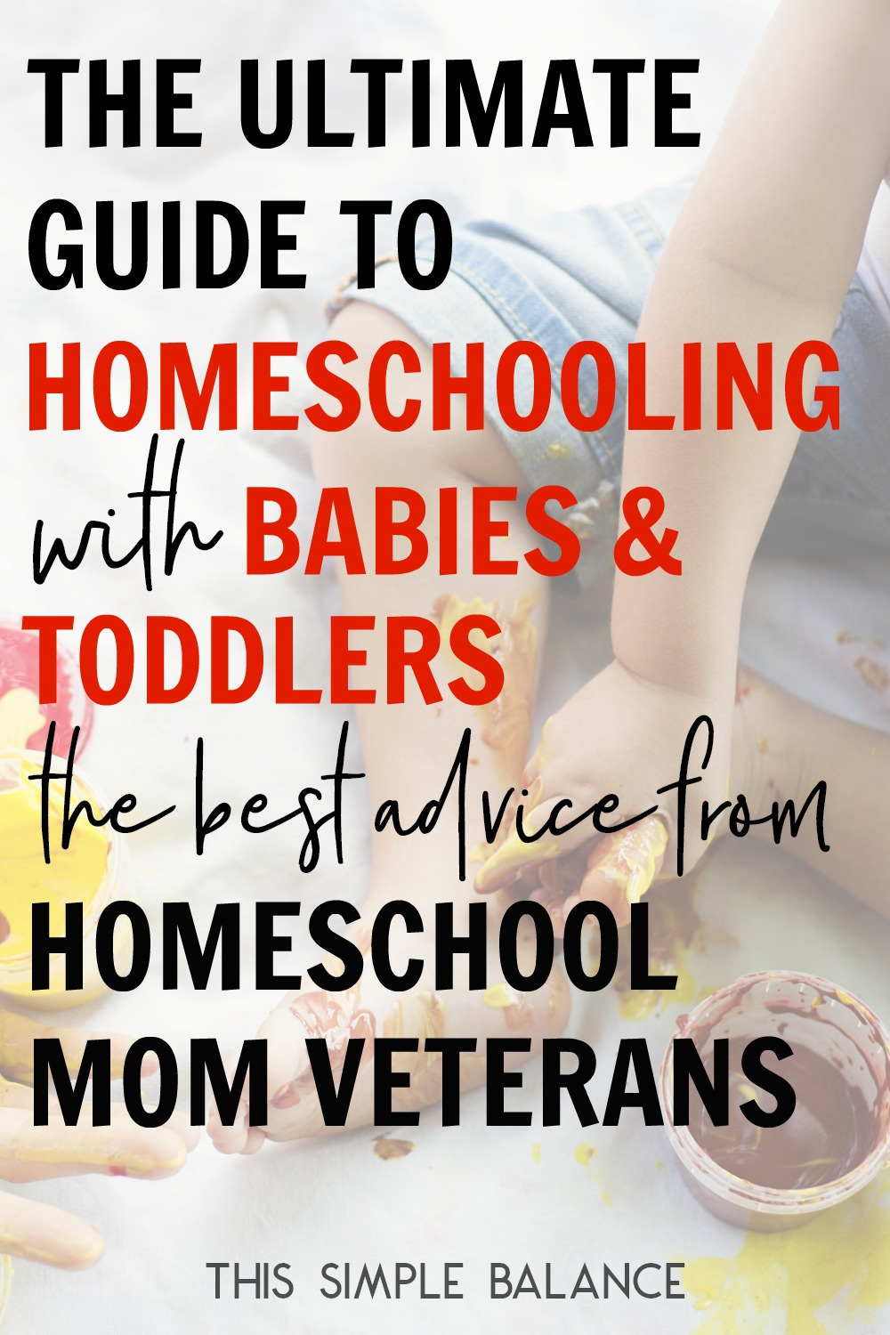 Homeschooling with babies and toddlers? It feels impossible (I know - I'm attempting to do this very thing right now!) but it CAN be done. Get the best tips from homeschool mom veterans for how to continue homeschooling, even with little ones.