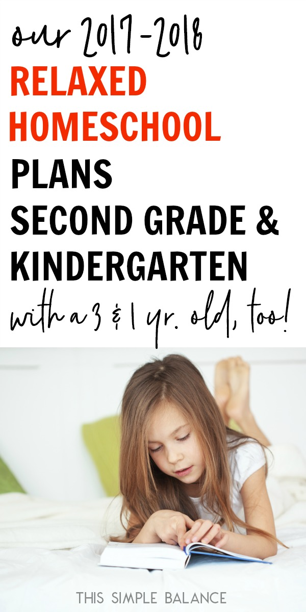 Our Relaxed Homeschool: Second Grade & Kindergarten. Plans, curriculum, ideas