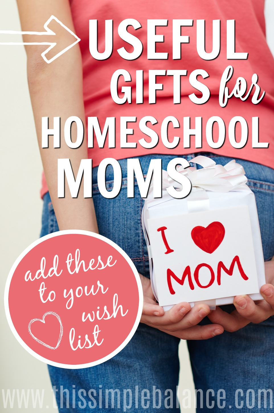 "Useful gifts to add to your wishlist, homeschool mom! (Or sneak this list to someone who needs gift ideas) Birthdays, Christmas, or ""just because"" gifts. #homeschoolmom #giftideas"