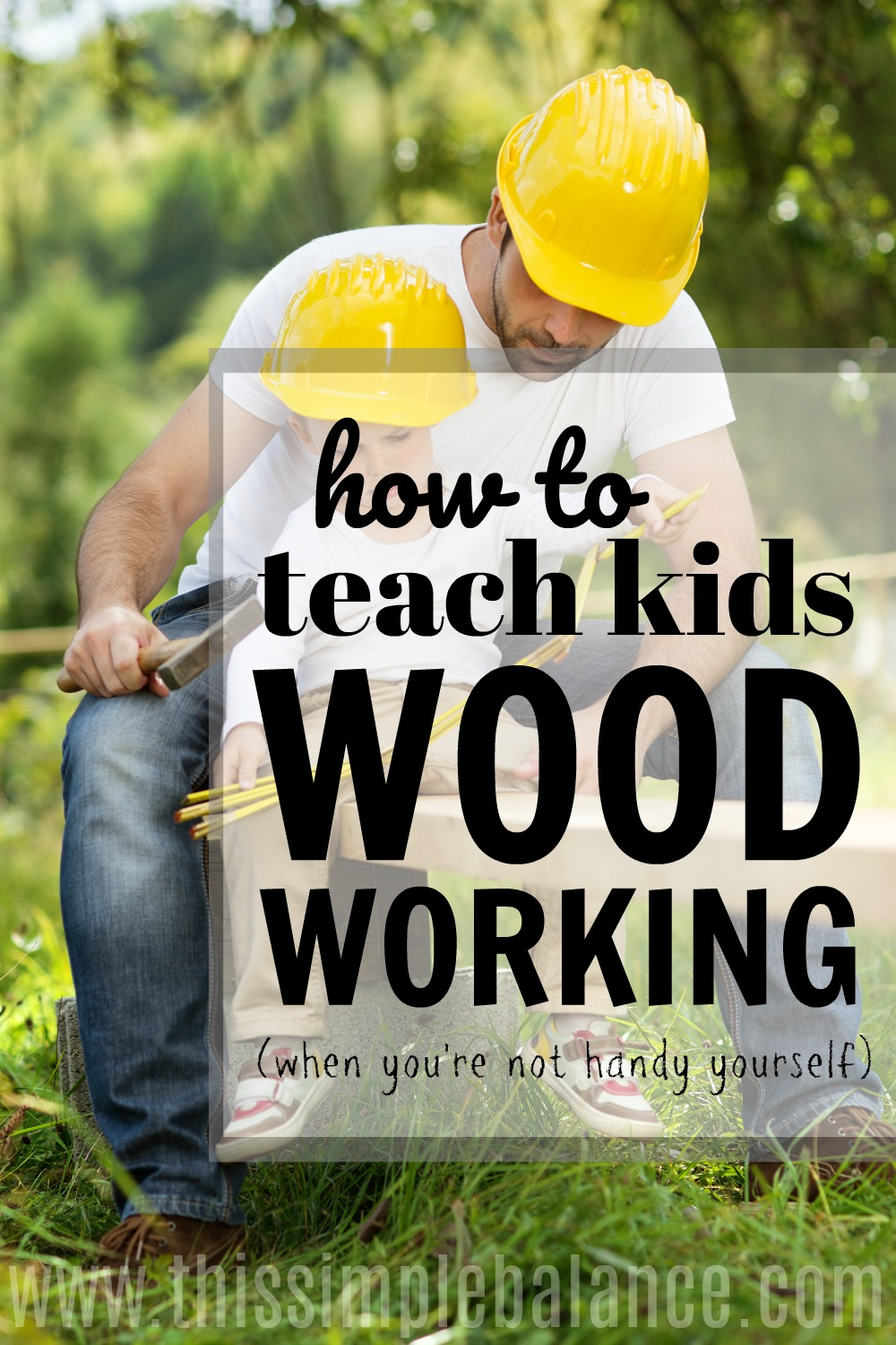 Teaching your kids something when you have NO CLUE what you're doing is really hard! This post makes teaching your kids woodworking seem simple (even if you don't know what you're doing)! Great easy project ideas and more - pinning for later!