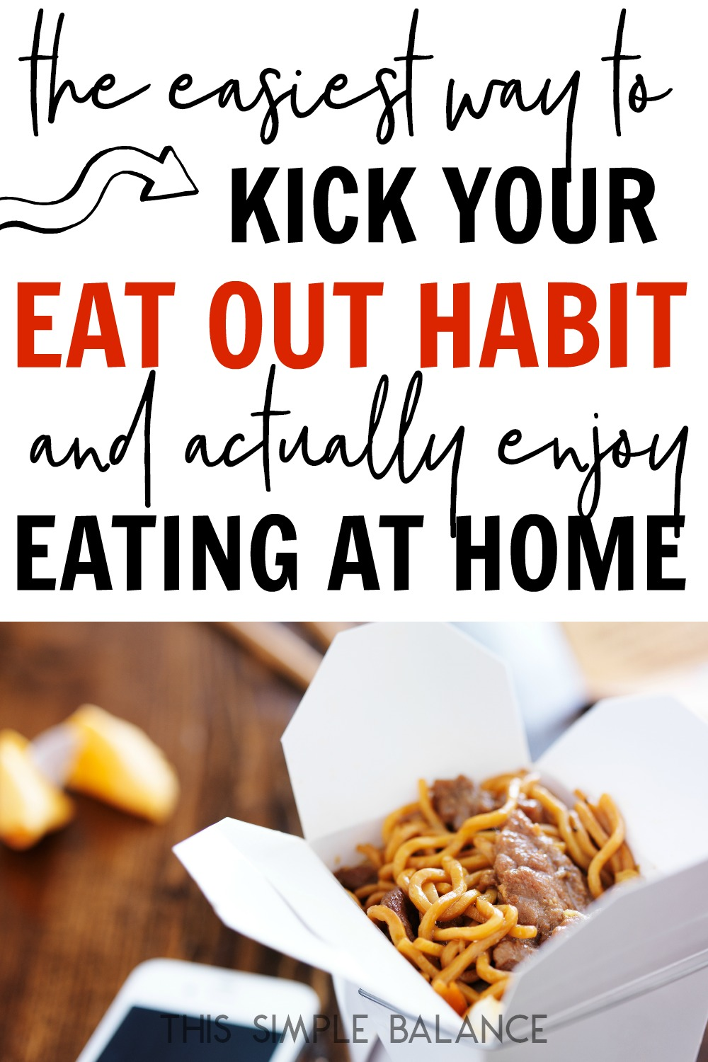 Want (make that NEED) to stop eating out so much because it's killing your budget? Make breaking up with eating out painless with this one super simple tip.