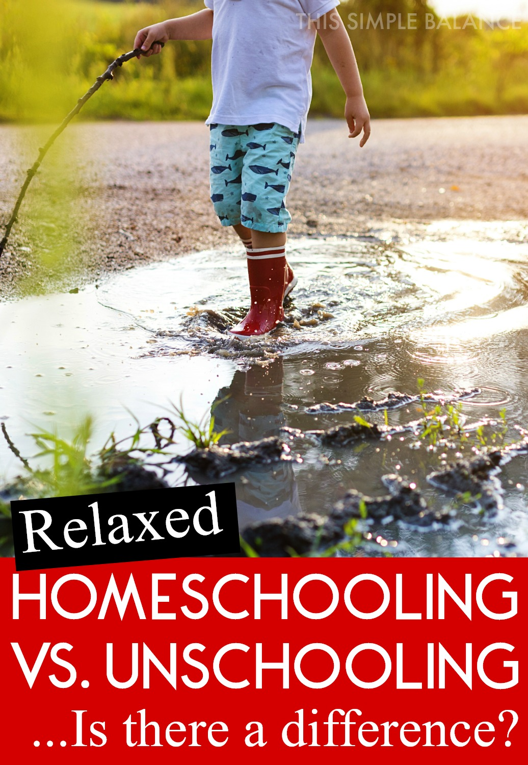 Relaxed Homeschooling and Unschooling are pretty similar, and some people consider them one and the same. But there is a very important difference. #relaxedhomeschooling