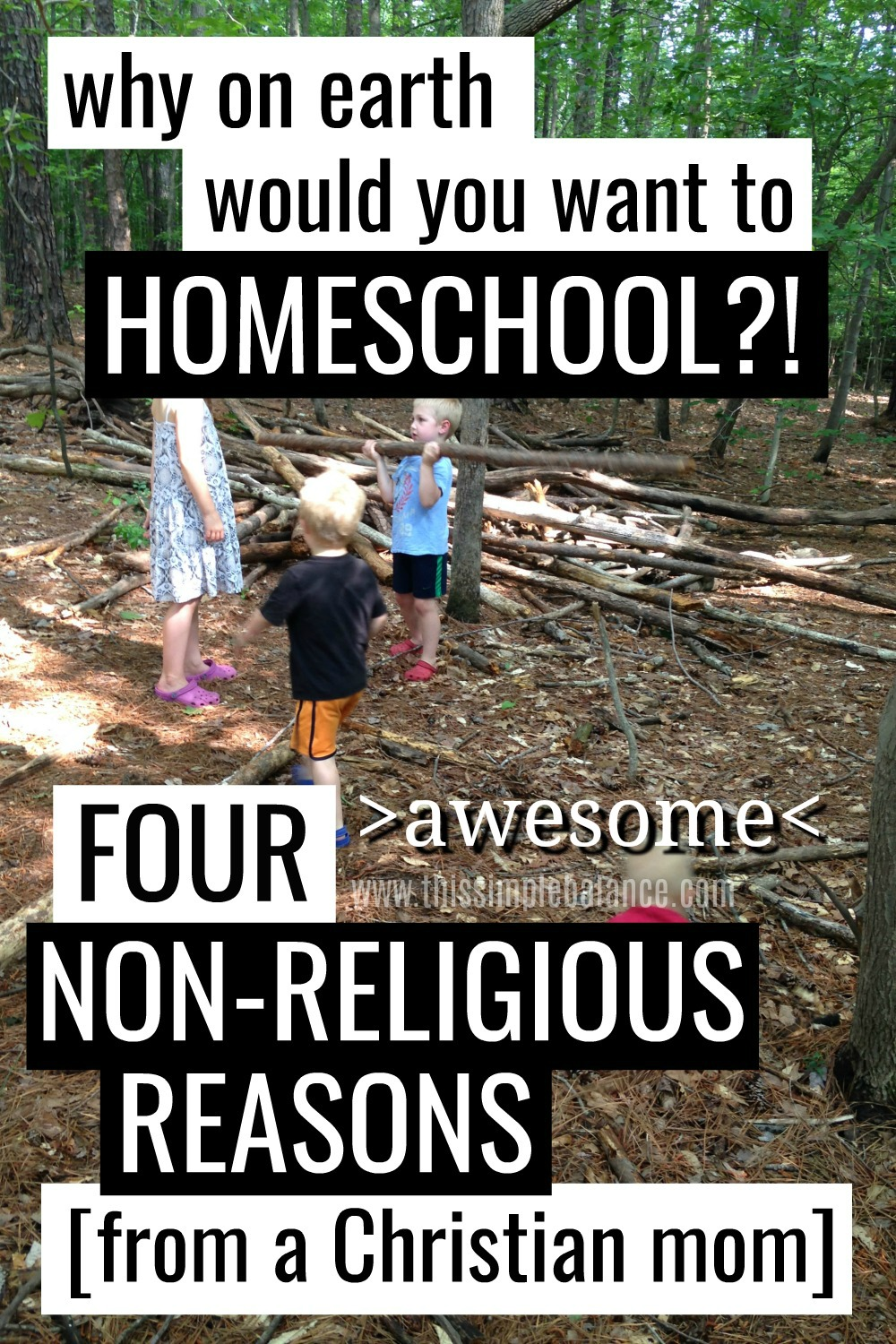Are you thinking about homeschooling? Get four of the best secular reasons to homeschool and the best way to get started. #homeschooling