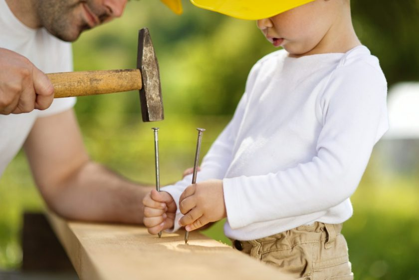 how to teach kids woodworking
