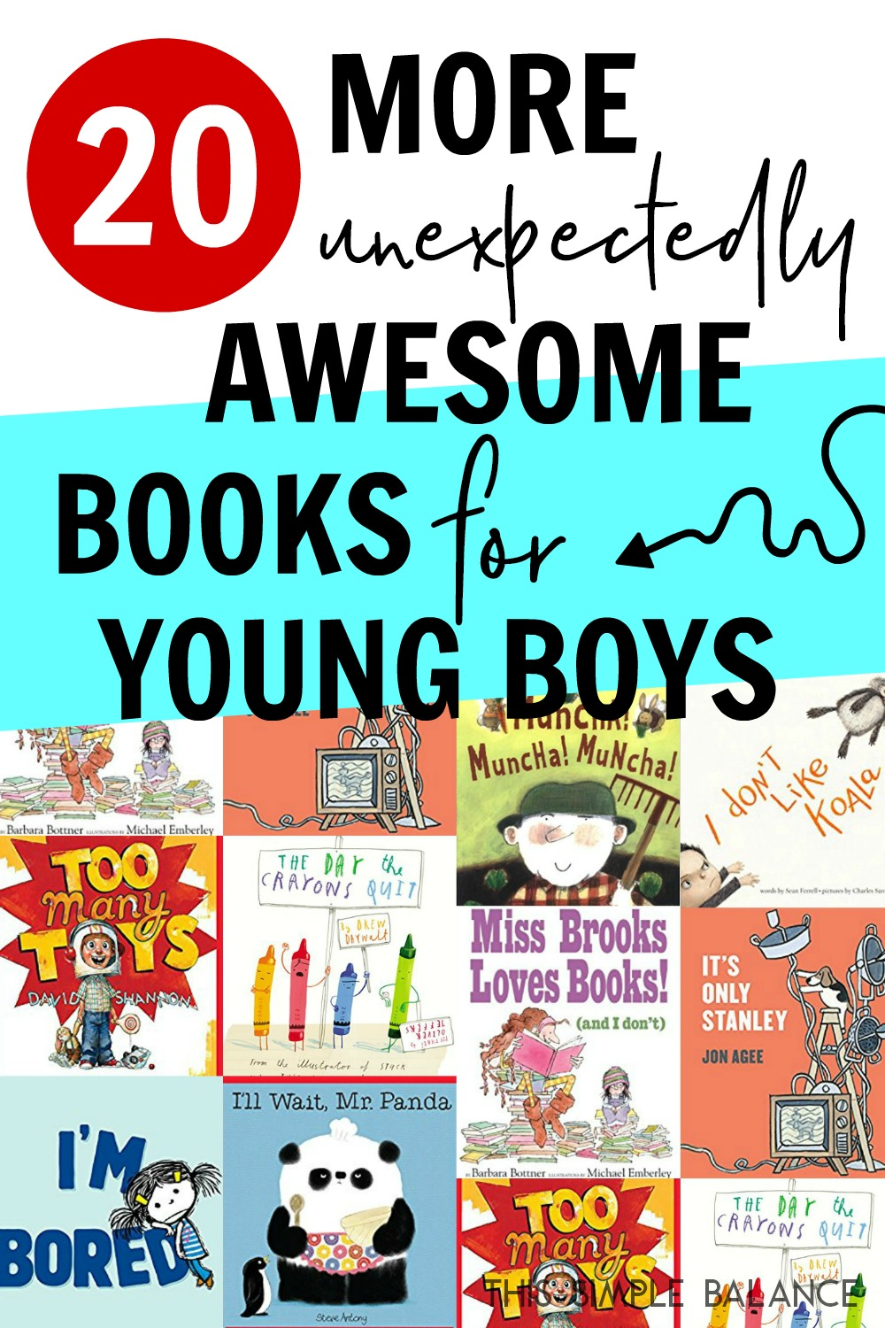 20 More Great Books for Young Boys - the greatest hits with my boys from our library finds (ages 4-6, 6-8)