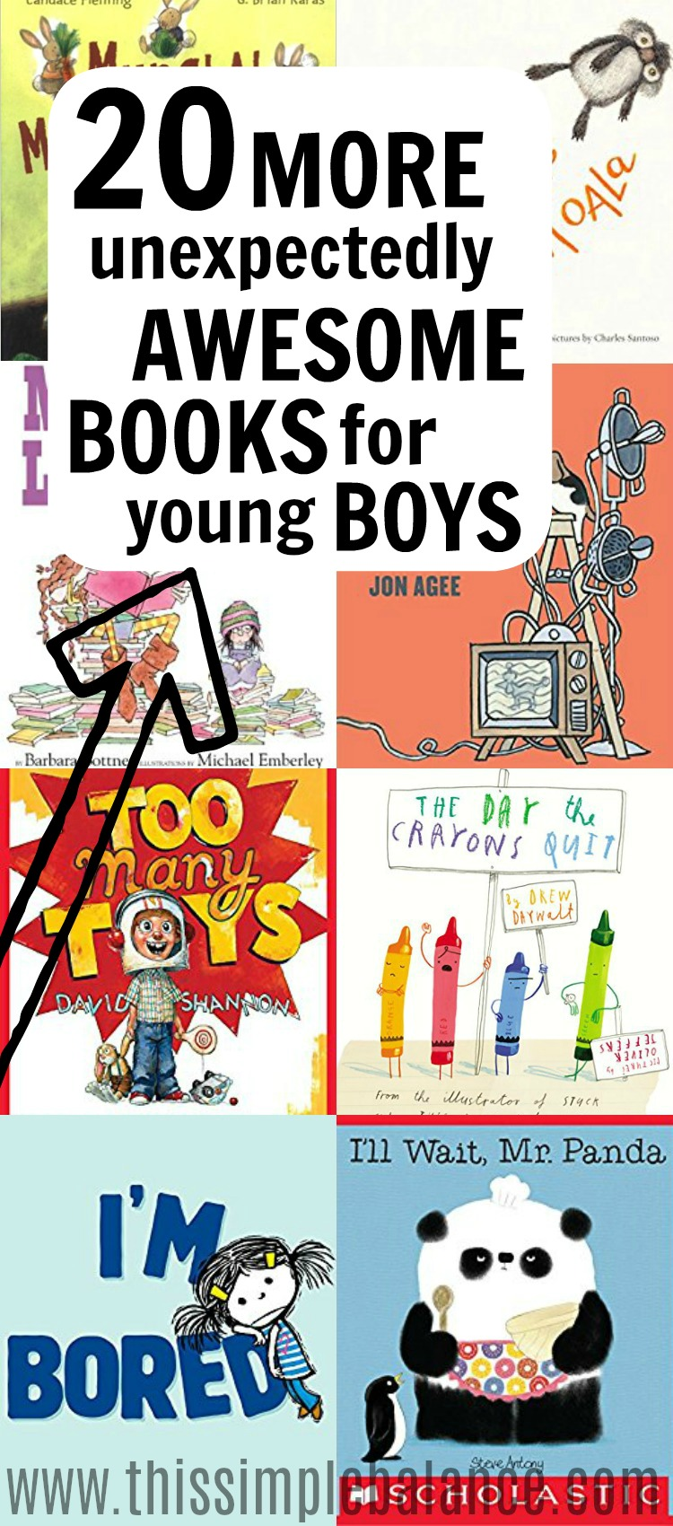 Awesome and fun books for little boys (ages 4-6) | book lists for kids #booklistsforkids