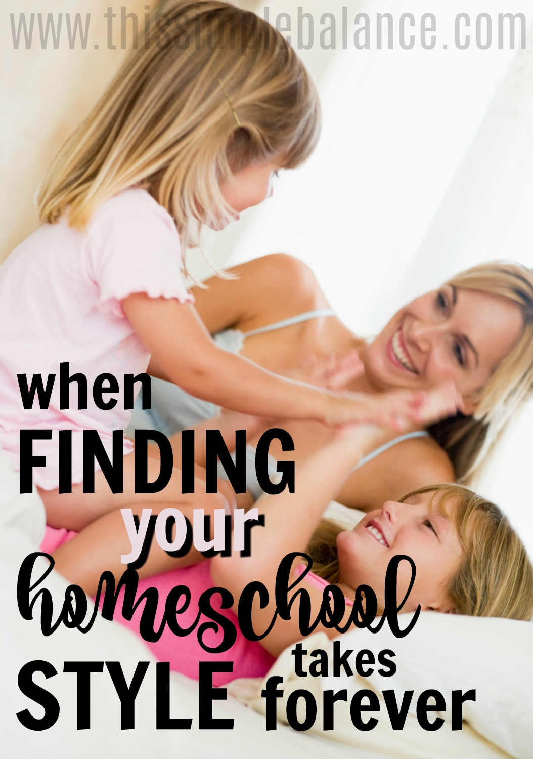 Finding your homeschool style doesn't always come easily. As homeschool moms, we can get SO discouraged when our first year homeschooling doesn't click...or the second or the third... Encouragement for the Homeschool Mom #homeschooling #homeschoolmom