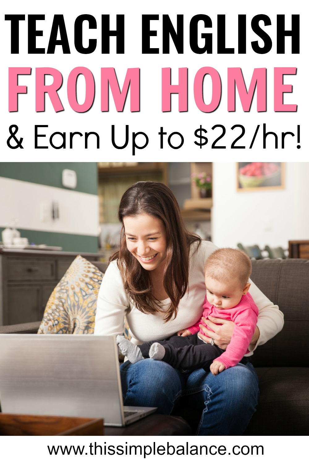 Need to Earn Extra Money From Home as a Stay at Home Mom? Make extra cash teaching English online! Completely flexible hours: perfect for moms needing to supplement household income.