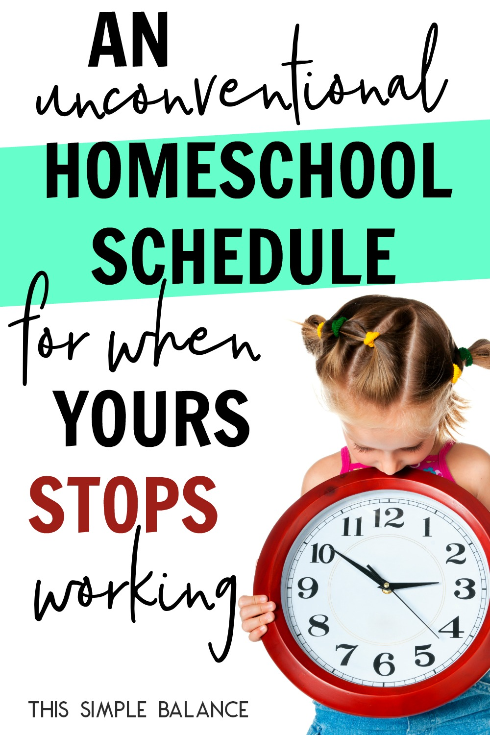 Homeschool Schedules aren't a one size fits all. What works for one family might not work for another. Try this rather unconventional homeschool schedule when yours stops working.