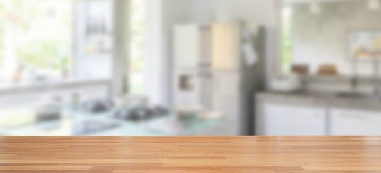 clear kitchen countertop