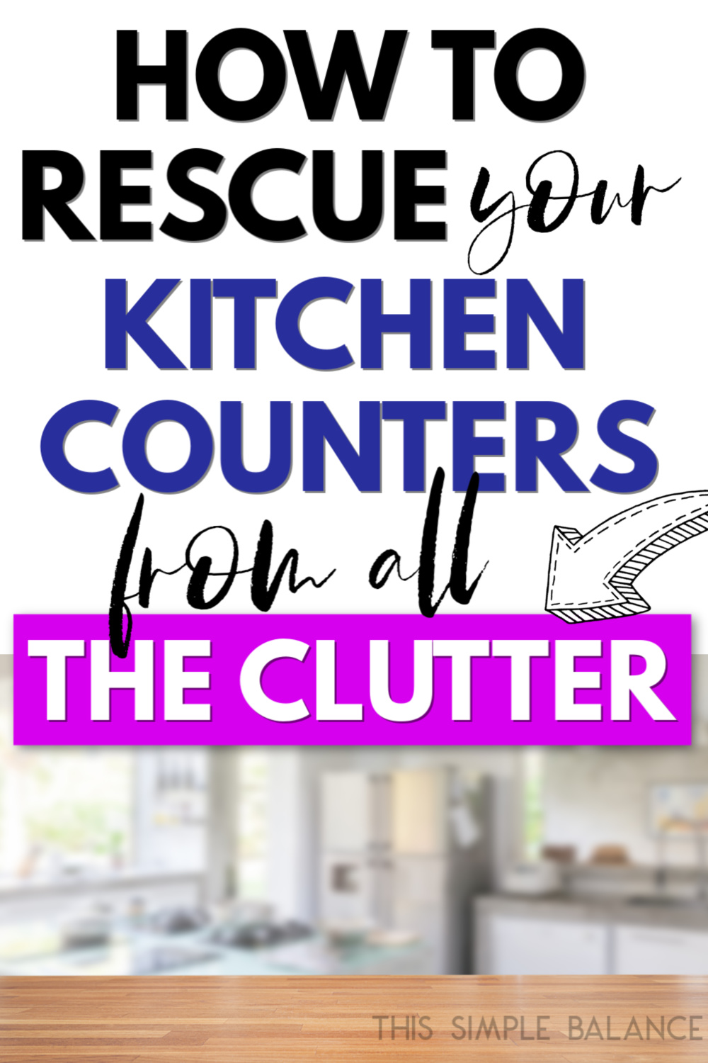 clear kitchen counters