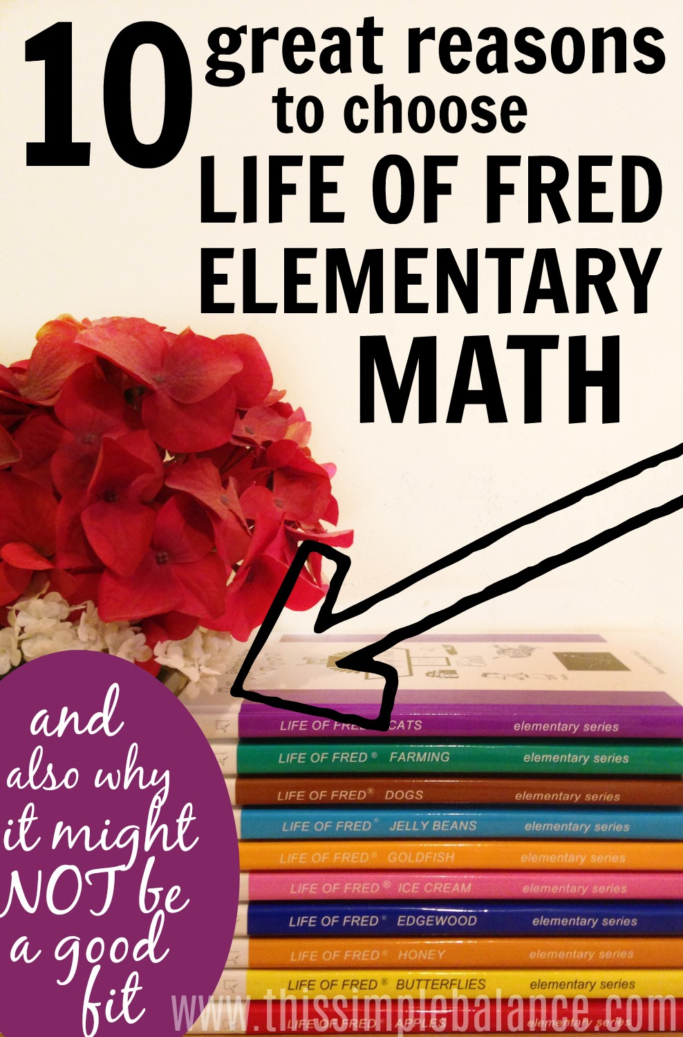 Are you curious about Life of Fred Math, but still skeptical? Life of Fred Elementary Math is our FOURTH homeschool math curriculum in three years of homeschooling, and I absolutely LOVE it! That being said, I know it is NOT for everyone. Read 10 great reasons TO choose Life of Fred math as your homeschool math curriculum, but also why it might not be the best fit for your homeschool. #homeschoolmathcurriculum #lifeoffredmath #curriculumreview