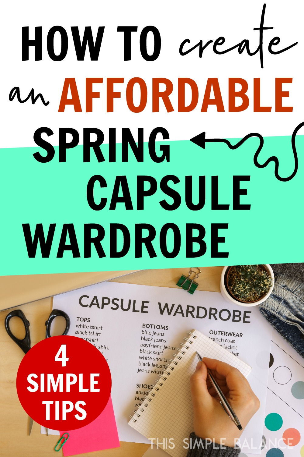 Create an affordable spring capsule wardrobe using these simple questions and tips! #capsulewardrobe