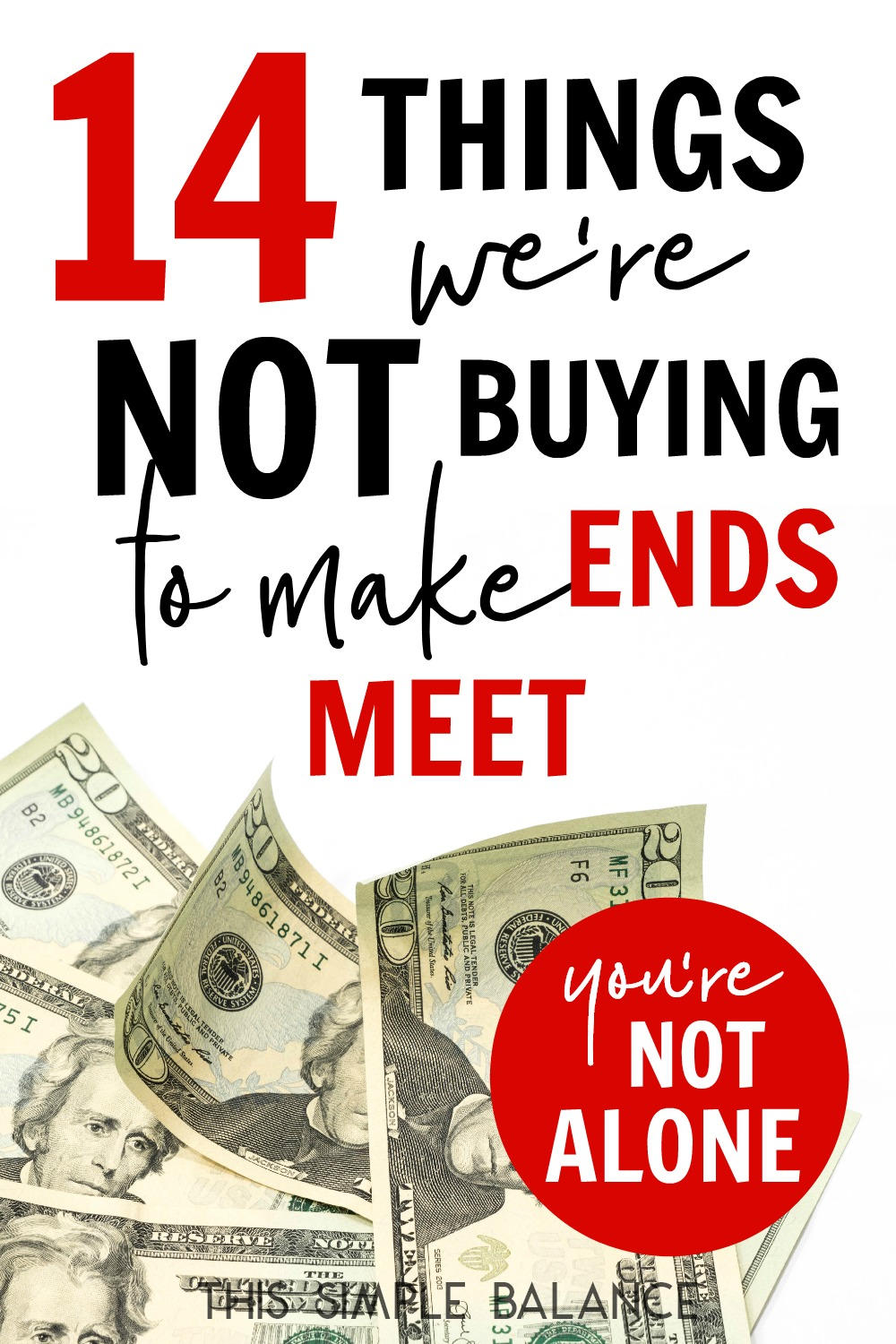Trying to make ends meet and the sacrifices are getting old? Take heart! You are not alone. Here are a few things we aren't buying these days to in order to pay the bills - from the significant to the trivial.