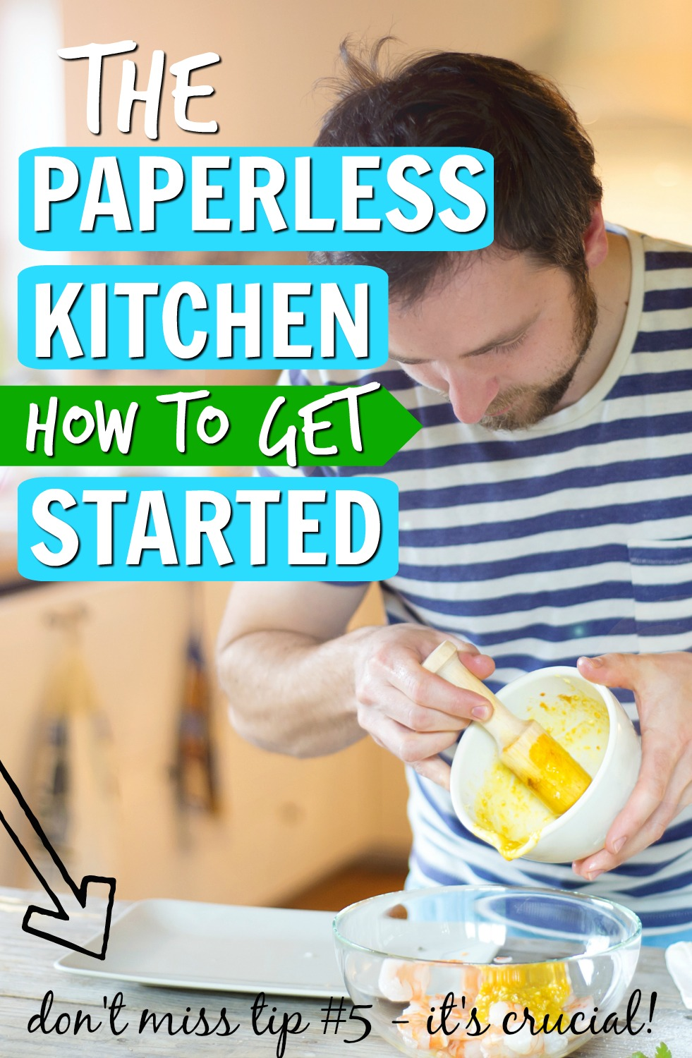 So you WANT to start a paperless kitchen, but you have no idea where to begin or how to break your paper towel habit. If that's you, these 5 tips will help you start your paperless kitchen journey: #5 is CRUCIAL for your success! #paperlesskitchen #zerowaste #minimalist