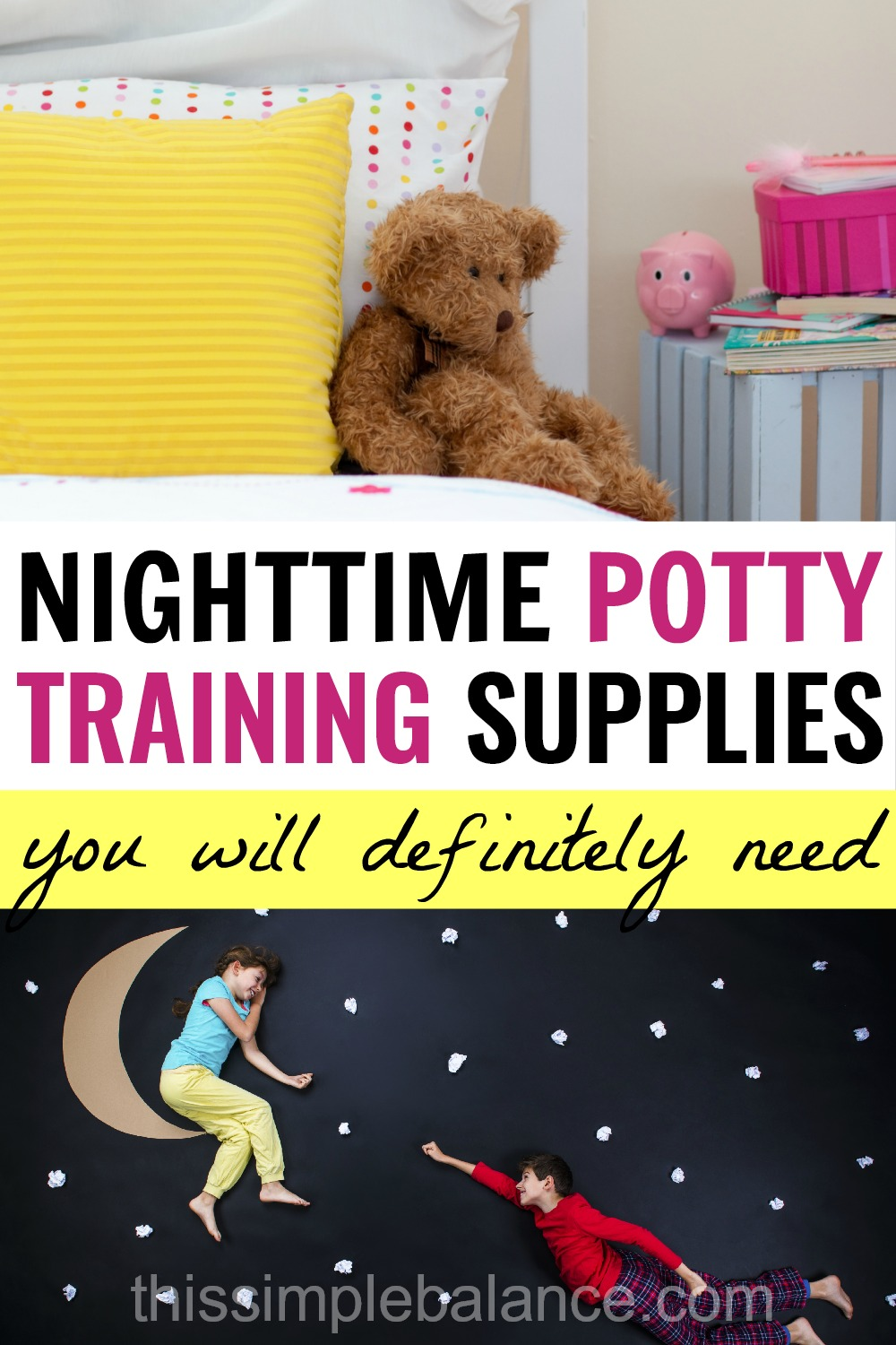 Nighttime Potty Training Products, especially helpful for 4 year olds and up!