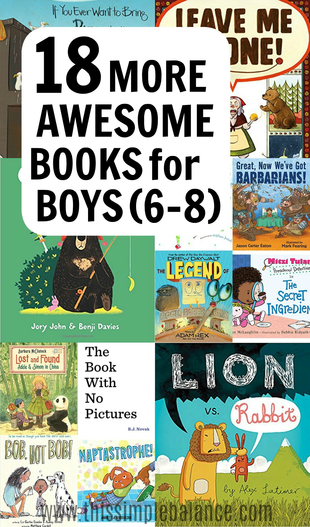 These 18 fun, awesome books were a hit with my boys (especially my son who is 6), but most of the books were also a hit with my daughter who is age 8. Only the best books make my lists!