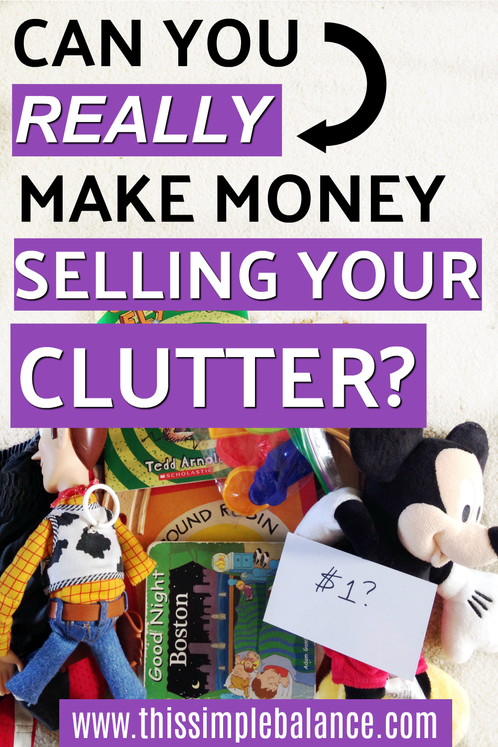 Can you earn money selling your clutter? | Decluttering | Minimalist on a Low Income