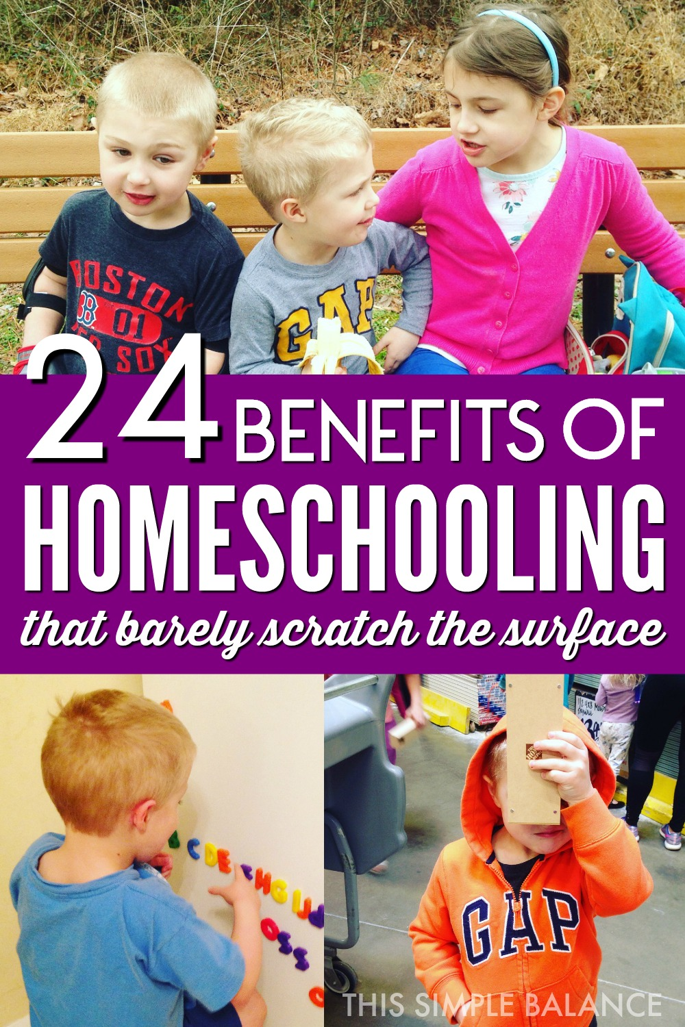 Homeschooling has so many benefits, but it's easy to forget them in the day to day life of the homeschool mom. I read these every time I need a reminder of why I homeschool. #whyhomeschool #homeschoolmom