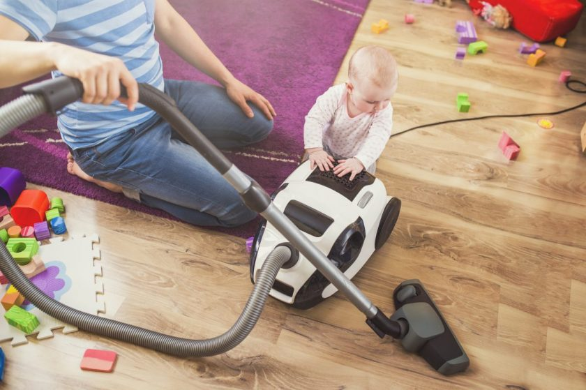 how to clean your house with a baby