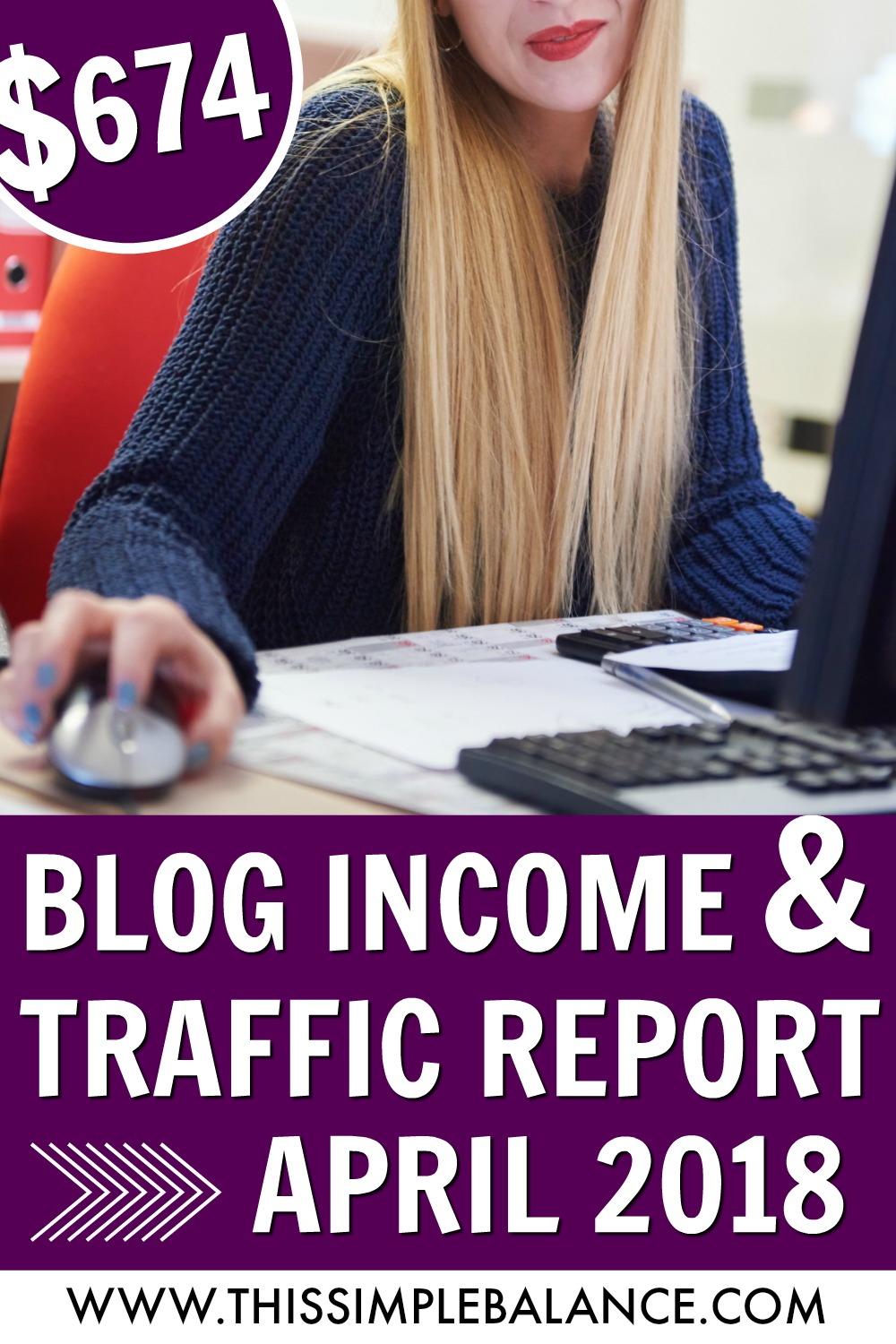 Blog Income and Traffic Report from a Small Blogger: April 2018 earnings, blogging tips and resources I've found useful to earn $674 this past month! #blogincomereport #bloggingtips